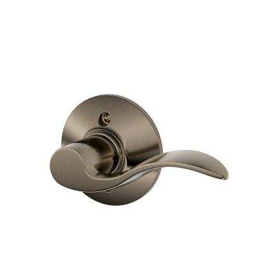 Accent Antique Pewter Right Handed Dummy Door Lever