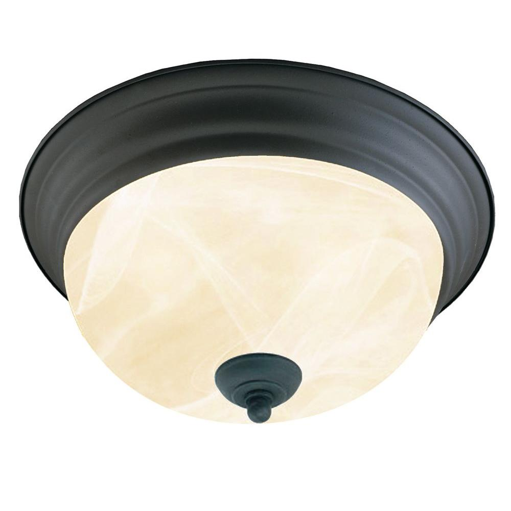 Thomas Lighting 2-Light Painted Bronze Ceiling Flush Mount