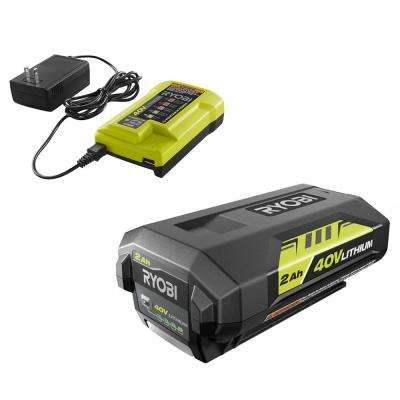 40-Volt Lithium-Ion 2.0 Ah Battery and Charger
