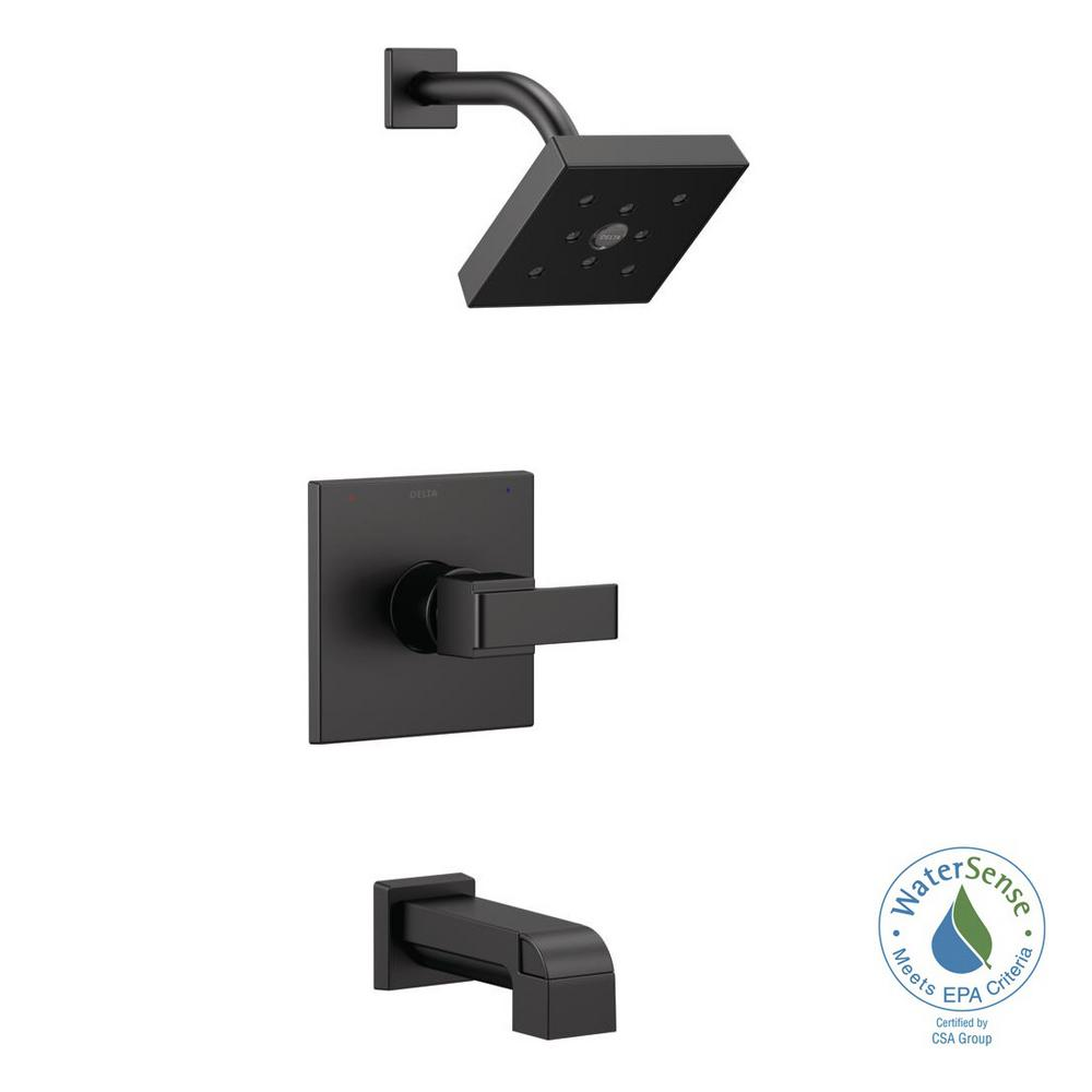 Delta Ara 1-Handle Wall Mount Tub and Shower Trim Kit with ...