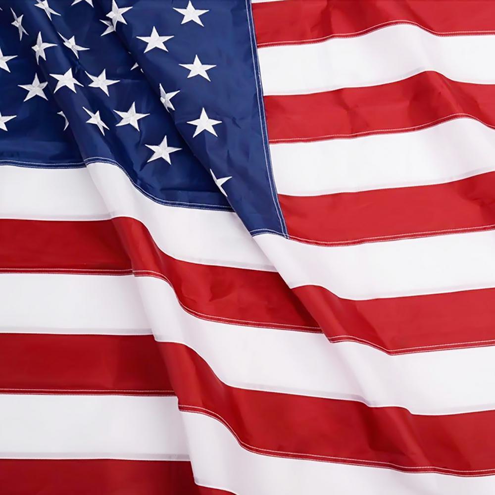 3x5 Embroidered American 34 Star Circle 600D Nylon Flag 3/'x5/'