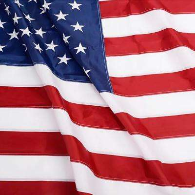 EverStrong 6 ft. x 10 ft. American US Heavy-Duty Nylon Flags Embroidered Stars and Sewn Stripes USA with Brass Grommets