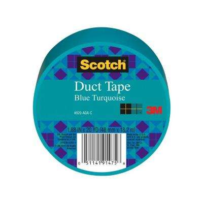 Scotch 1.88 in. x 20 yds. Blue Turquoise Duct Tape (Case of 6)
