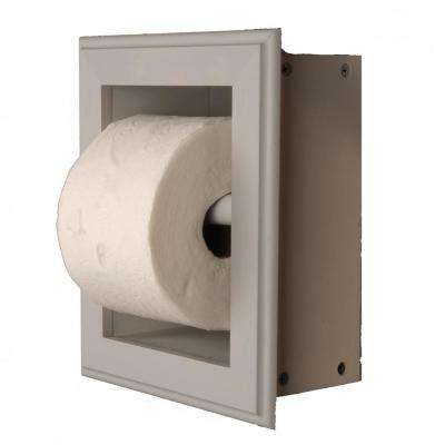 Newton Recessed Toilet Paper Holder 21 Holder in Primed Wall Hugger Frame in Gray