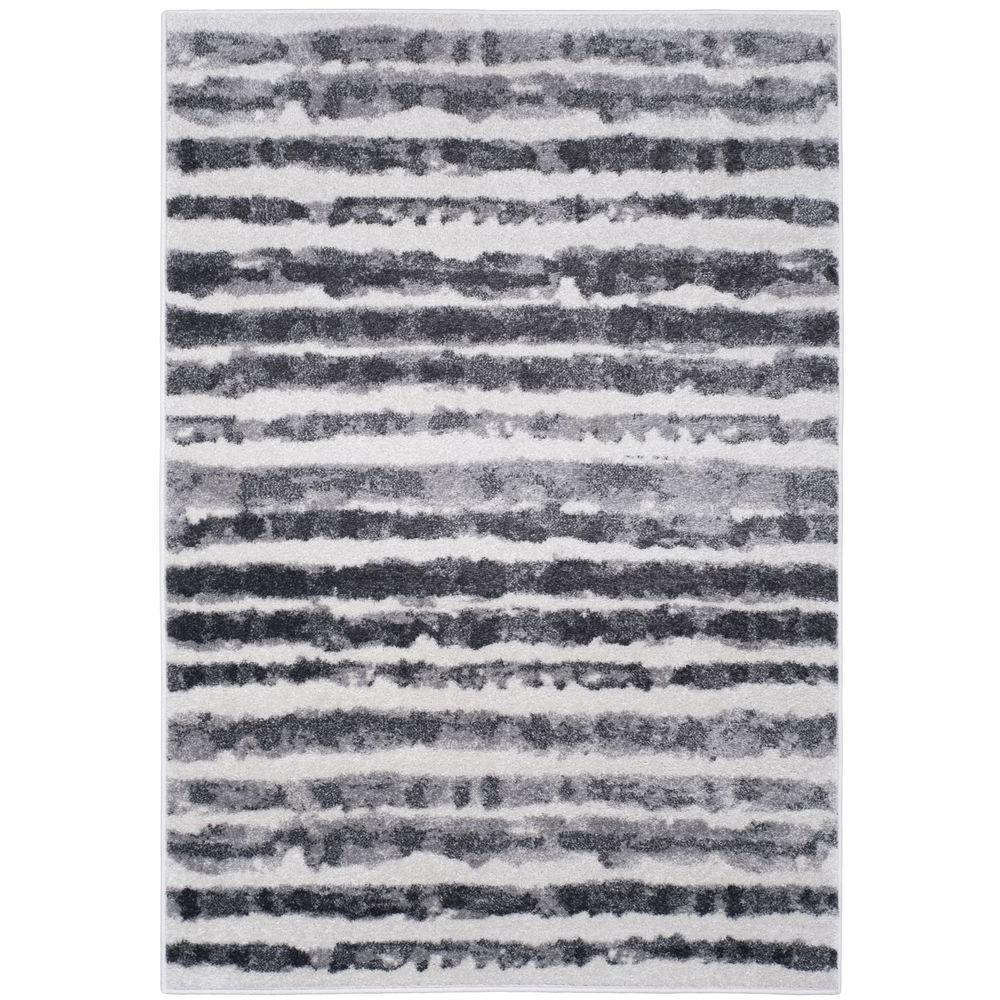 Adirondack Ivory/Charcoal 4 ft. x 6 ft. Area Rug