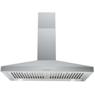 30 in. Wall Mount Range Hood in Stainless Steel with Professional Baffle Filters, LED lights,  Touch Screen Control