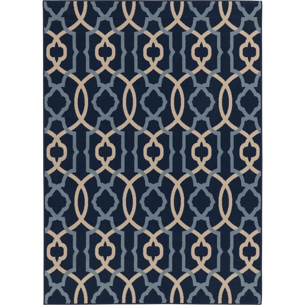 Hampton Bay Blue Geometric Rug Black Friday Deal