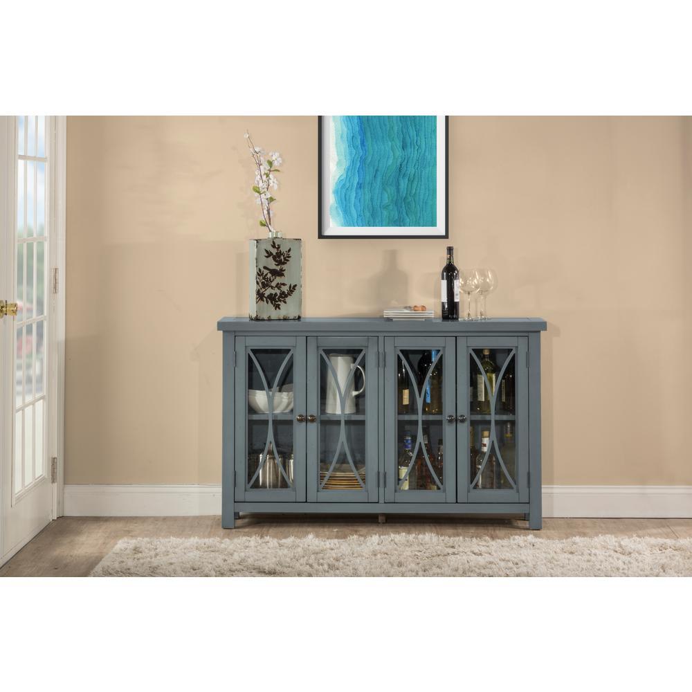Hillsdale Furniture Bayside Robin Egg Blue 4 Door Cabinet