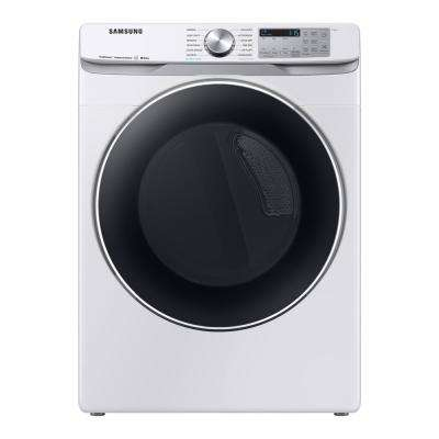 7.5 cu. ft. White Gas Dryer with Steam Sanitize+
