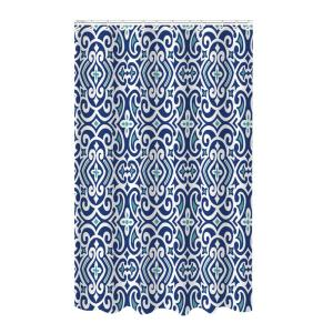 Bath Bliss Bamboo 72 inch Blue Polyester Royal Shower Curtain by Bath Bliss
