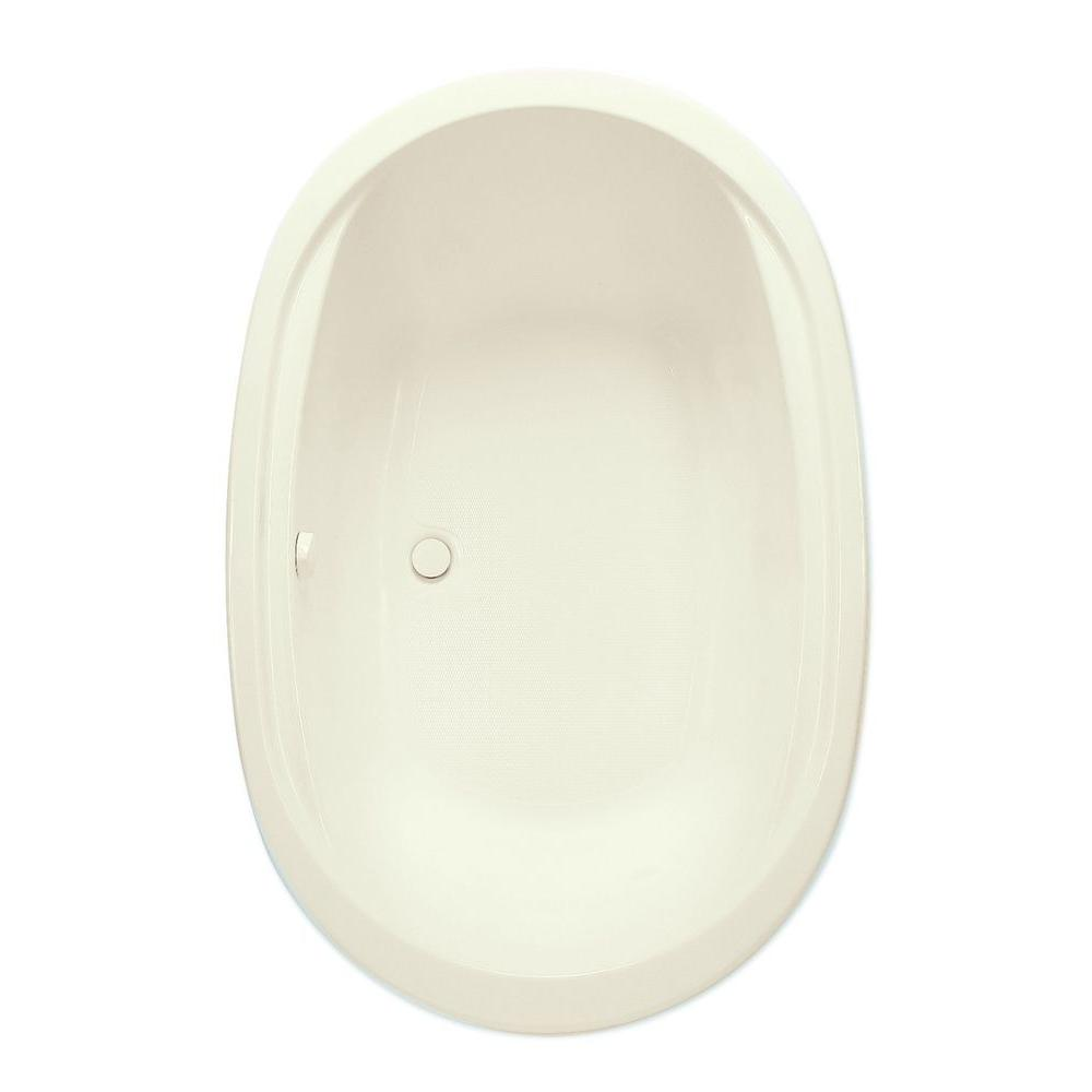 Velencia II 6 ft. Center Drain Acrylic Soaking Tub in Biscuit