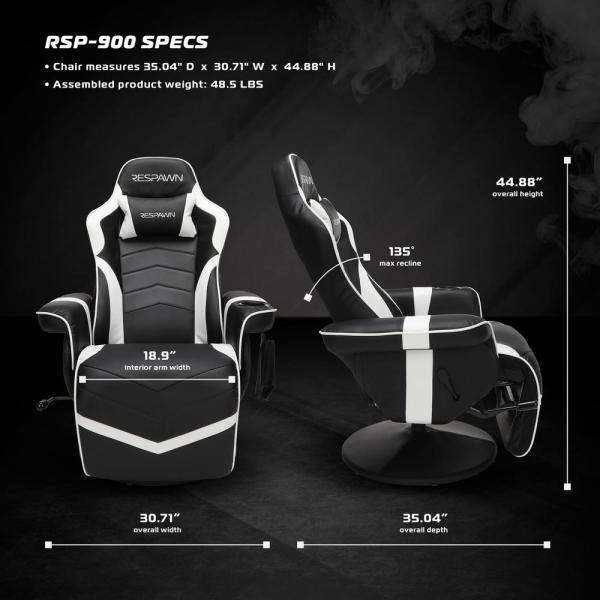 Unbranded 900 Racing Style Gaming Recliner, Reclining Gaming