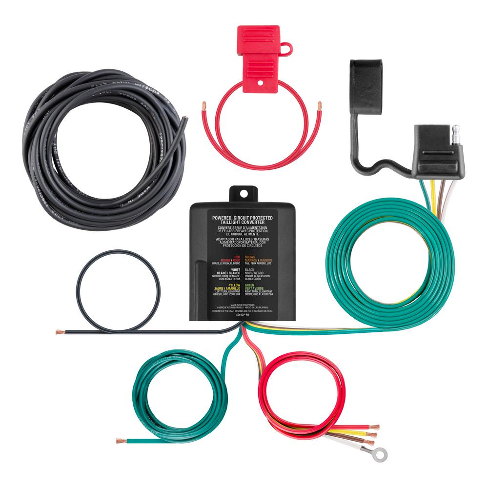 powered 3-to-2-wire taillight converter