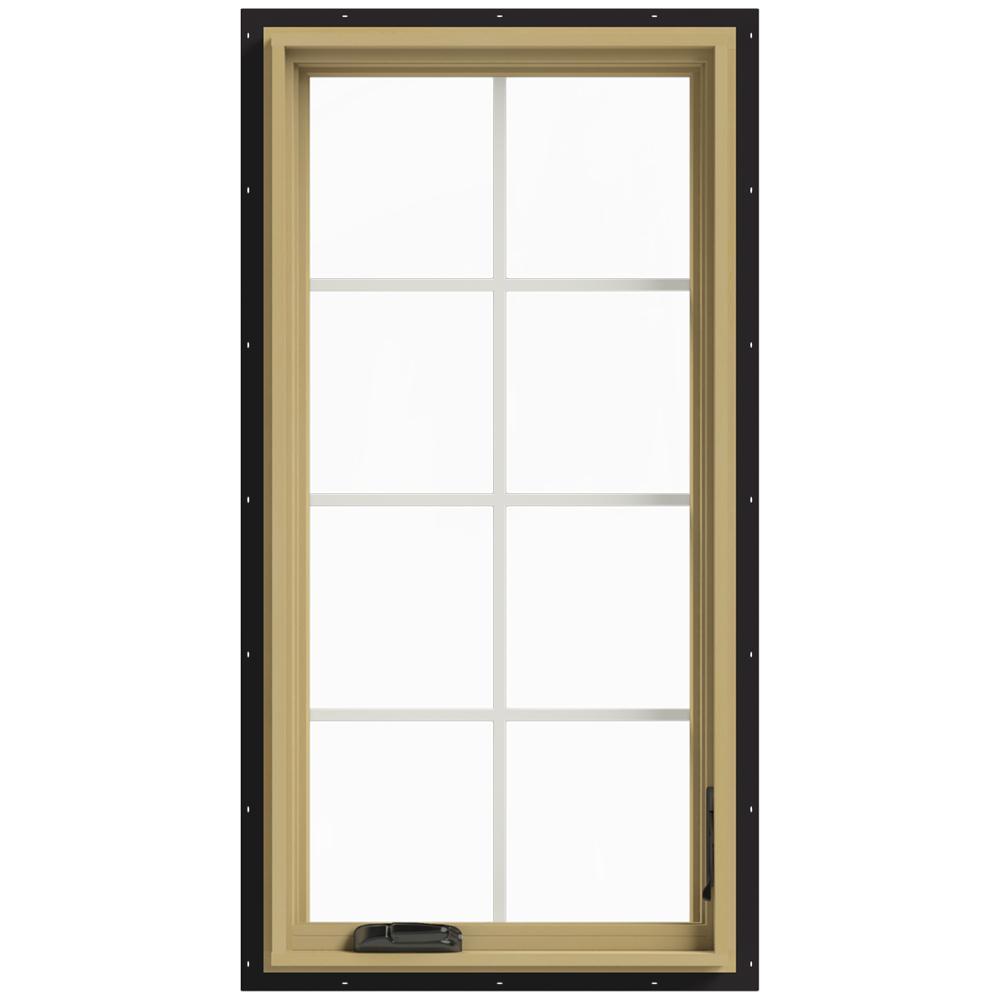 24 in. x 48 in. W-2500 Right Hand Casement Aluminum Clad Wood Window