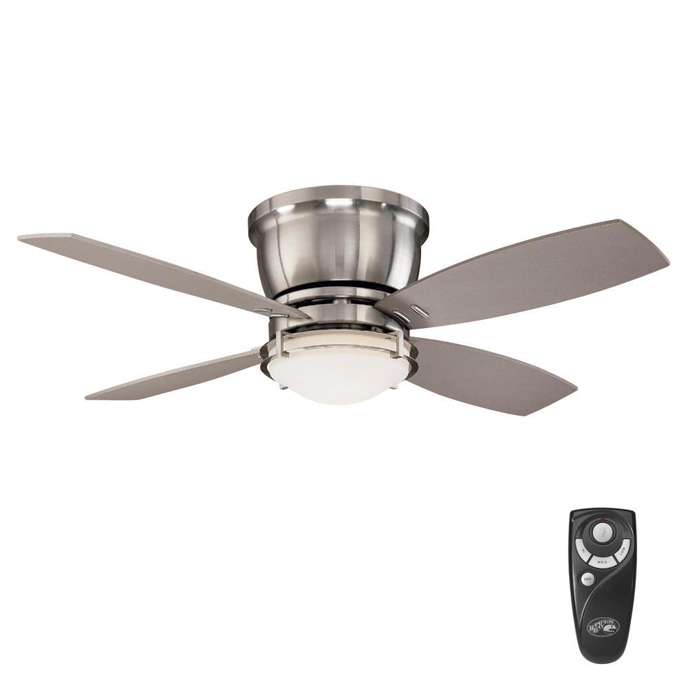 Parker Ridge 44 in. Indoor Brushed Nickel Ceiling Fan with Light