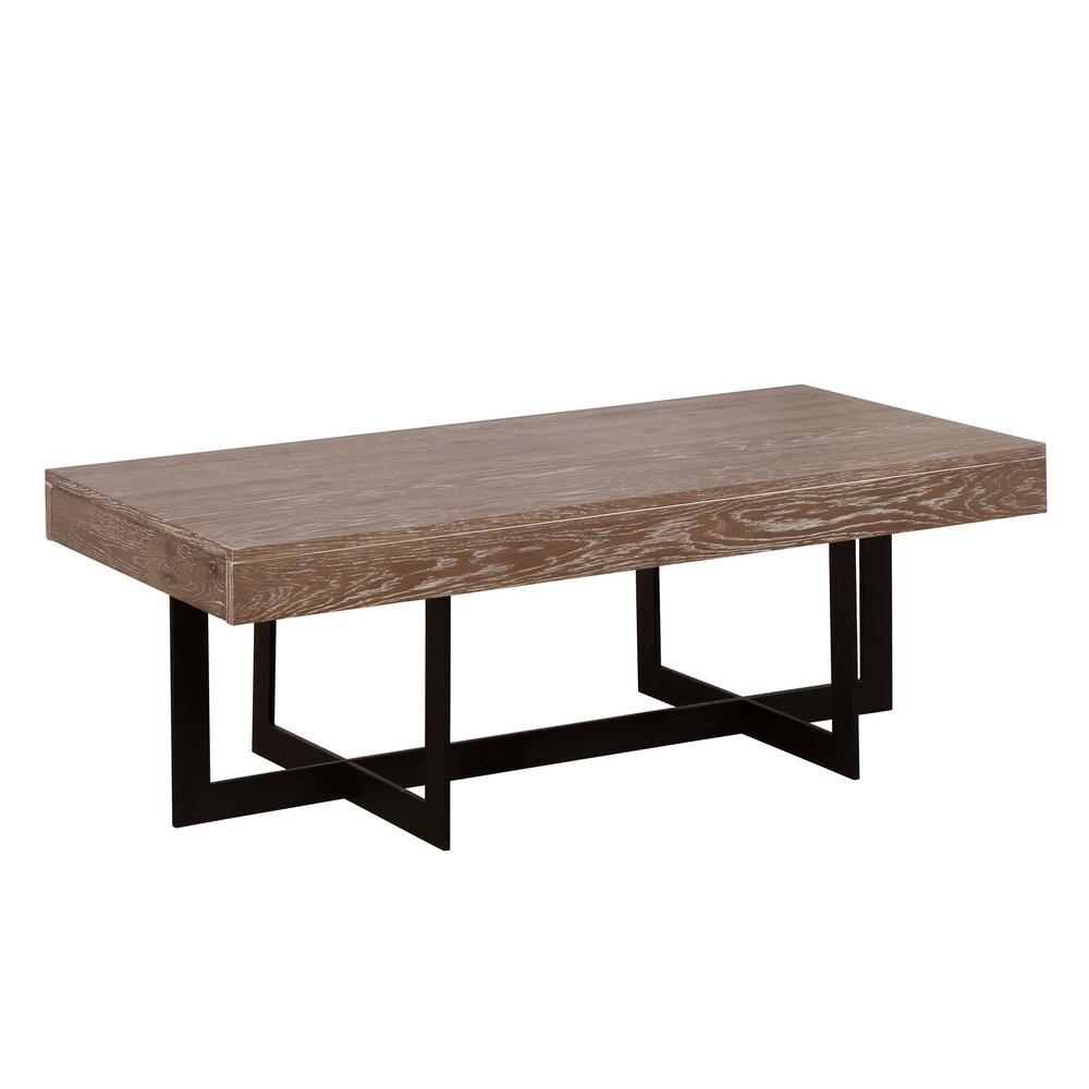 Furniture Of America Celeste Gray Wash Coffee Table Idf