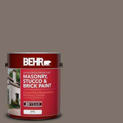 1 gal. #MS-86 Dusty Brown Flat Interior/Exterior Masonry, Stucco and Brick Paint