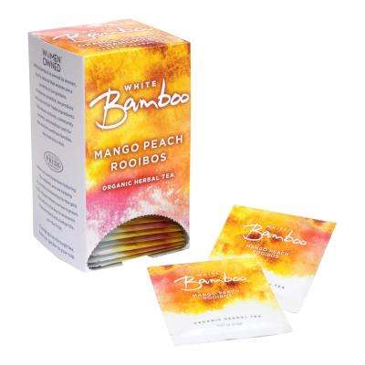 Tea Organic Mango Peach Rooibos 25-Tea Bags (6-Boxes)