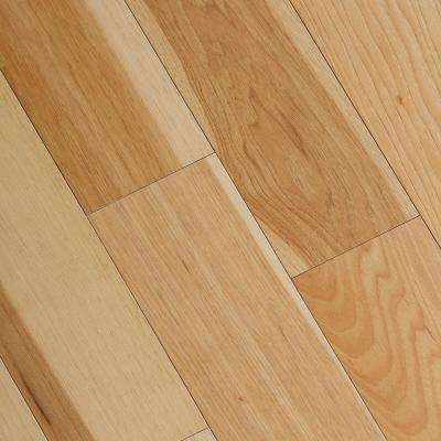 Wire Brushed Natural Hickory 3 8 In T X 5 In Wide X Varying Length Click Lock Hardwood Flooring 19 686 Sq Ft Case