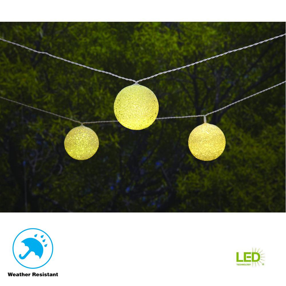 hampton bay 19.6 ft. Solar Integrated LED 10 Head String Light