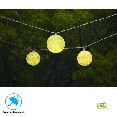 19.6 ft. Solar Integrated LED 10 Head String Light