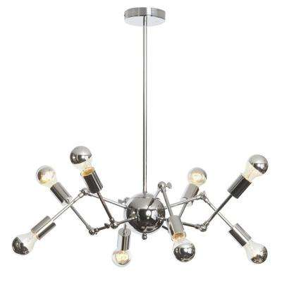 Desoto 8-Light 34 in. Polished Chrome Chandelier