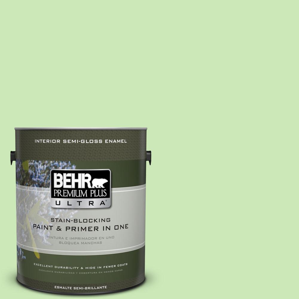 1-gal. #430A-3 Fairway Mist Semi-Gloss Enamel Interior Paint