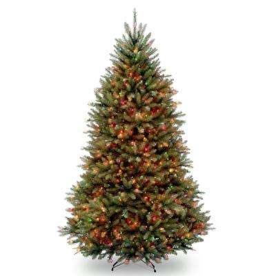 7 ft. Dunhill Fir Artificial Christmas Tree with Multicolor Lights
