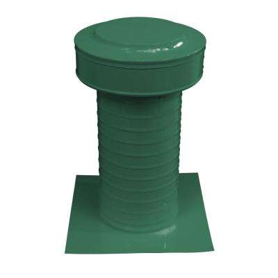 Keepa Vent 6 in. Dia Aluminum Roof Vent for Flat Roofs in Green