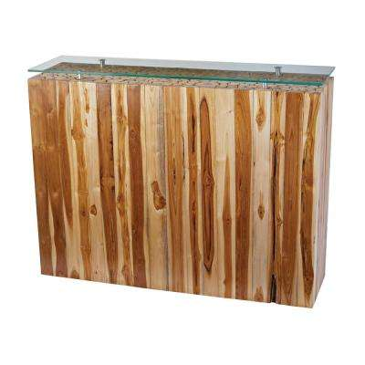 Bundled Teak Root Natural Console Table