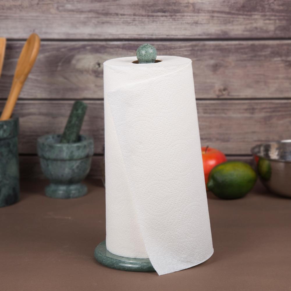 Natural Green Marble Deluxe Upright Paper Towel Holder Kitchen Towel Dispenser
