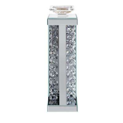 Nysa Mirrored and Faux Crystals Accent Candleholder