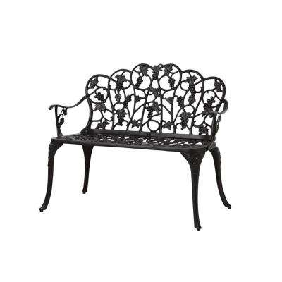 38.5 in. Grape Metal Outdoor Garden Bench