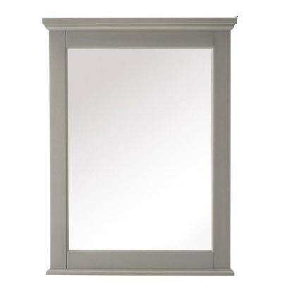 Hamilton 32 in. H x 24 in. W Framed Wall Mirror in Grey