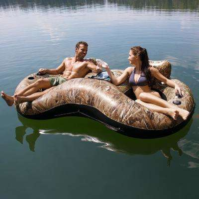 Realtree Lake Runner X2 Inflatable 2-Person Tube for Swimming Pools
