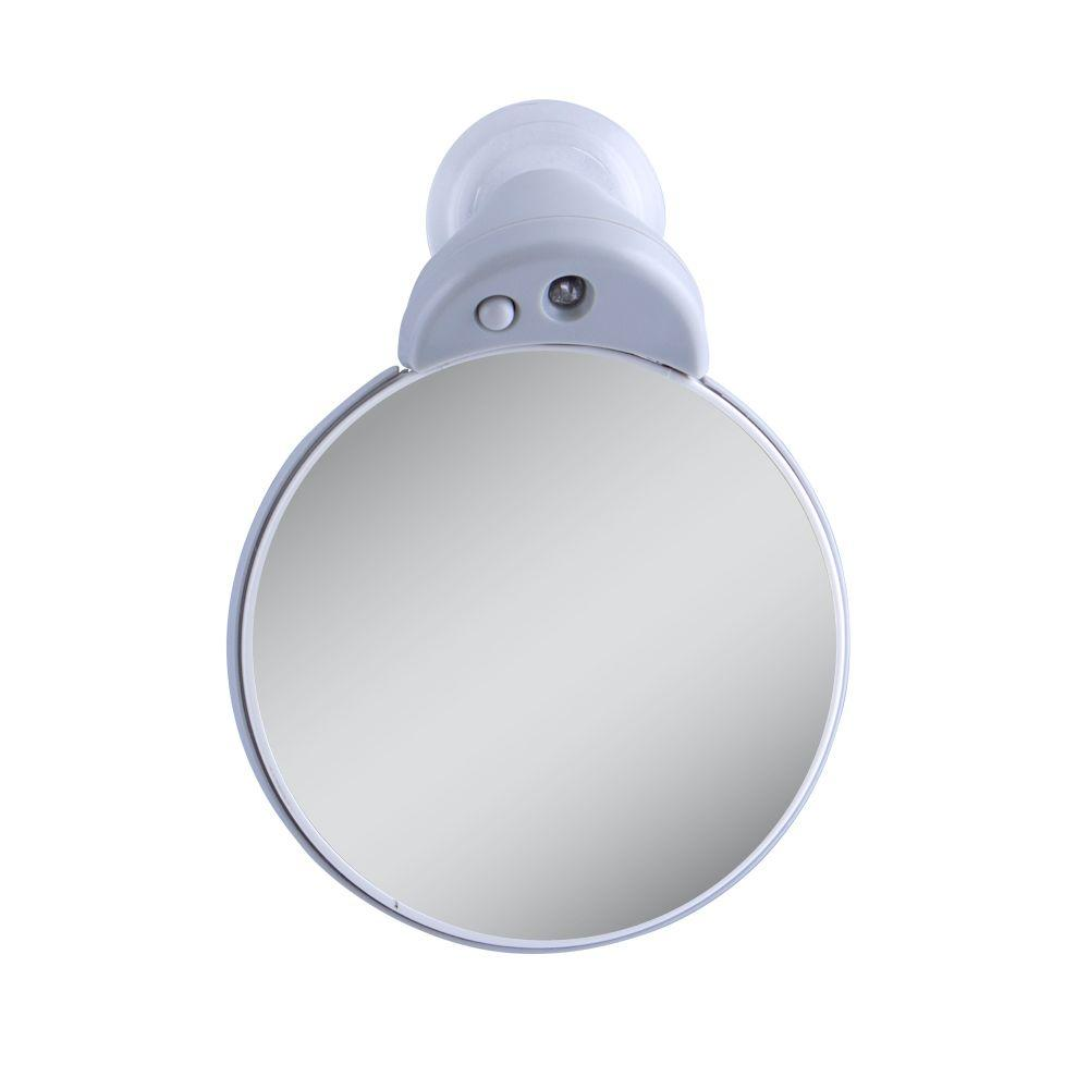 Zadro 10X/5X Lighted Magnification Spot Mirror in Gray