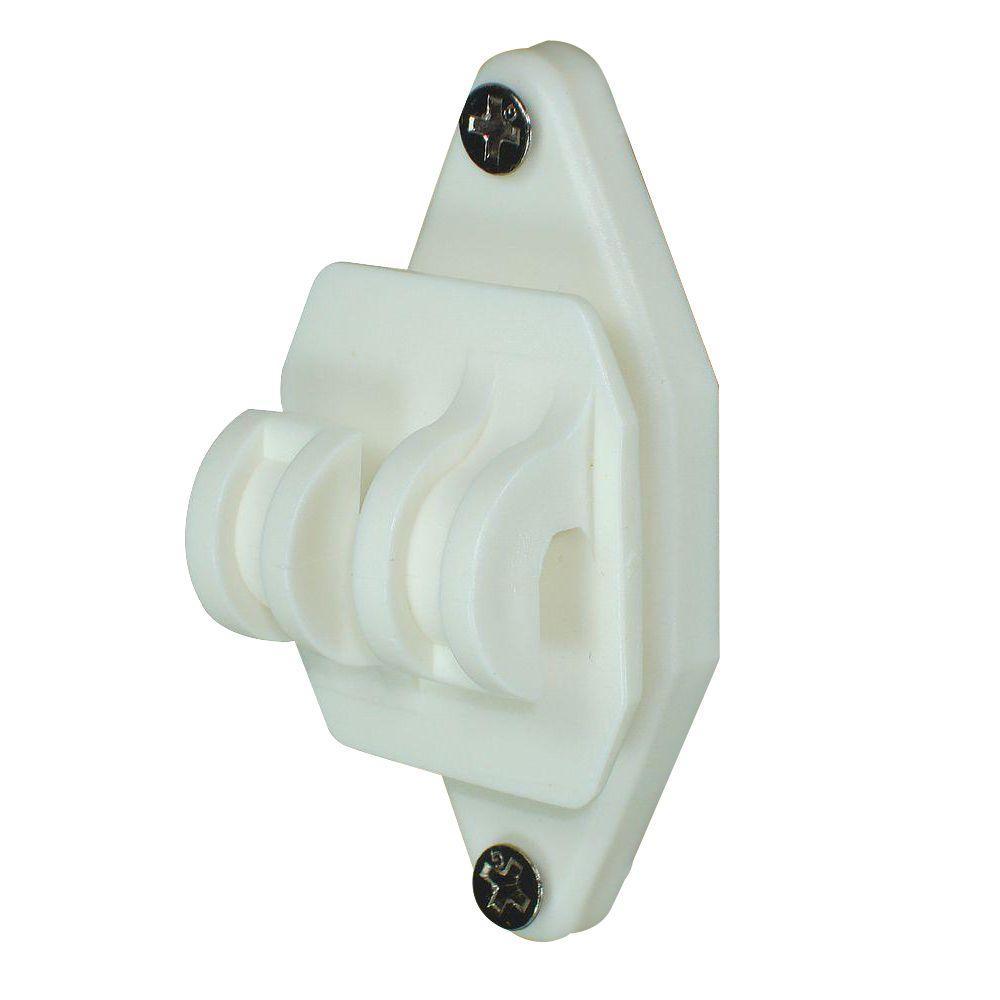 Wood Post Nail-On Insulator for Hi-Tensile - White
