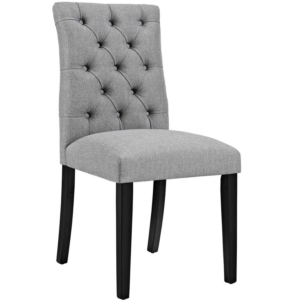 MODWAY Duchess Light Gray Fabric Dining Chair