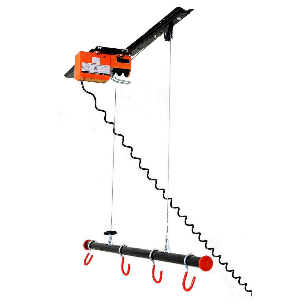 Garage Gator 125 Lb Capacity Motorized Ceiling Storage Lift For Bikes Kayaks Canoes And Golf Bags GG4125