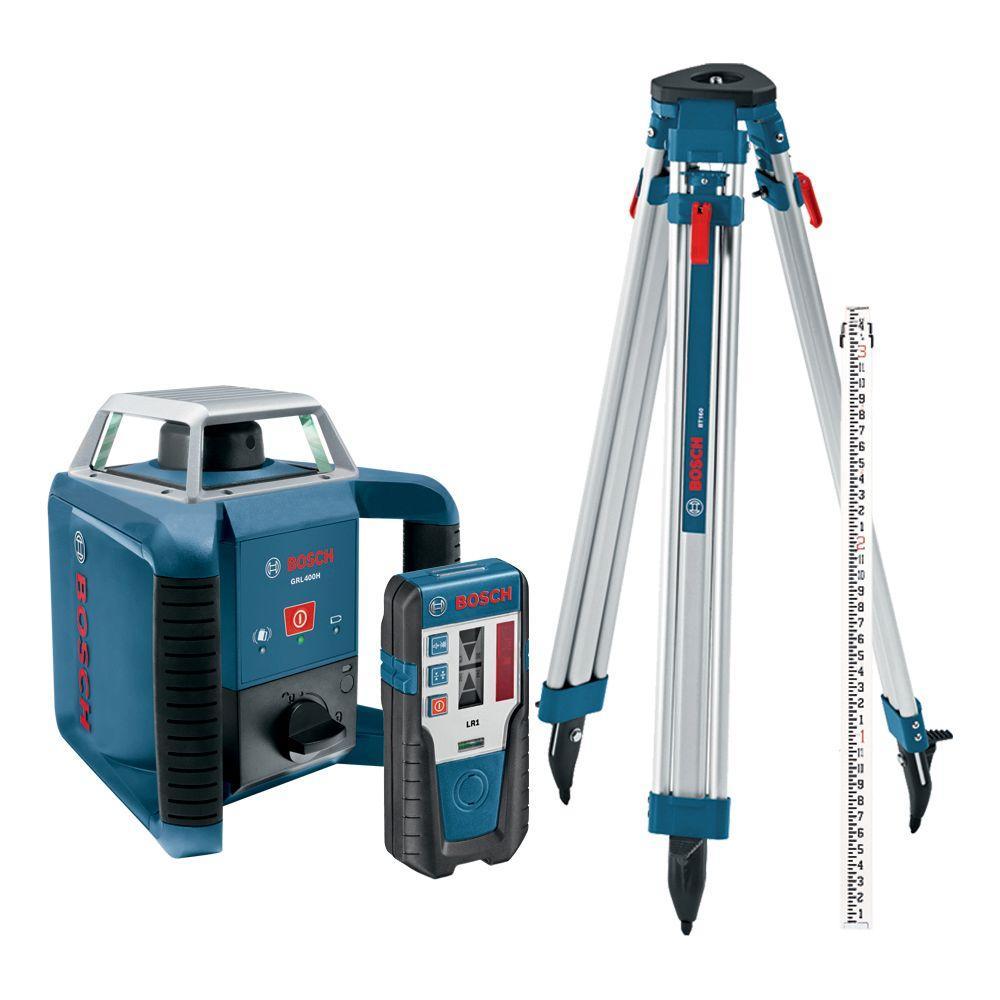 Bosch 1300 ft. Self-Leveling Rotary Laser Level Kit (4-Piece)