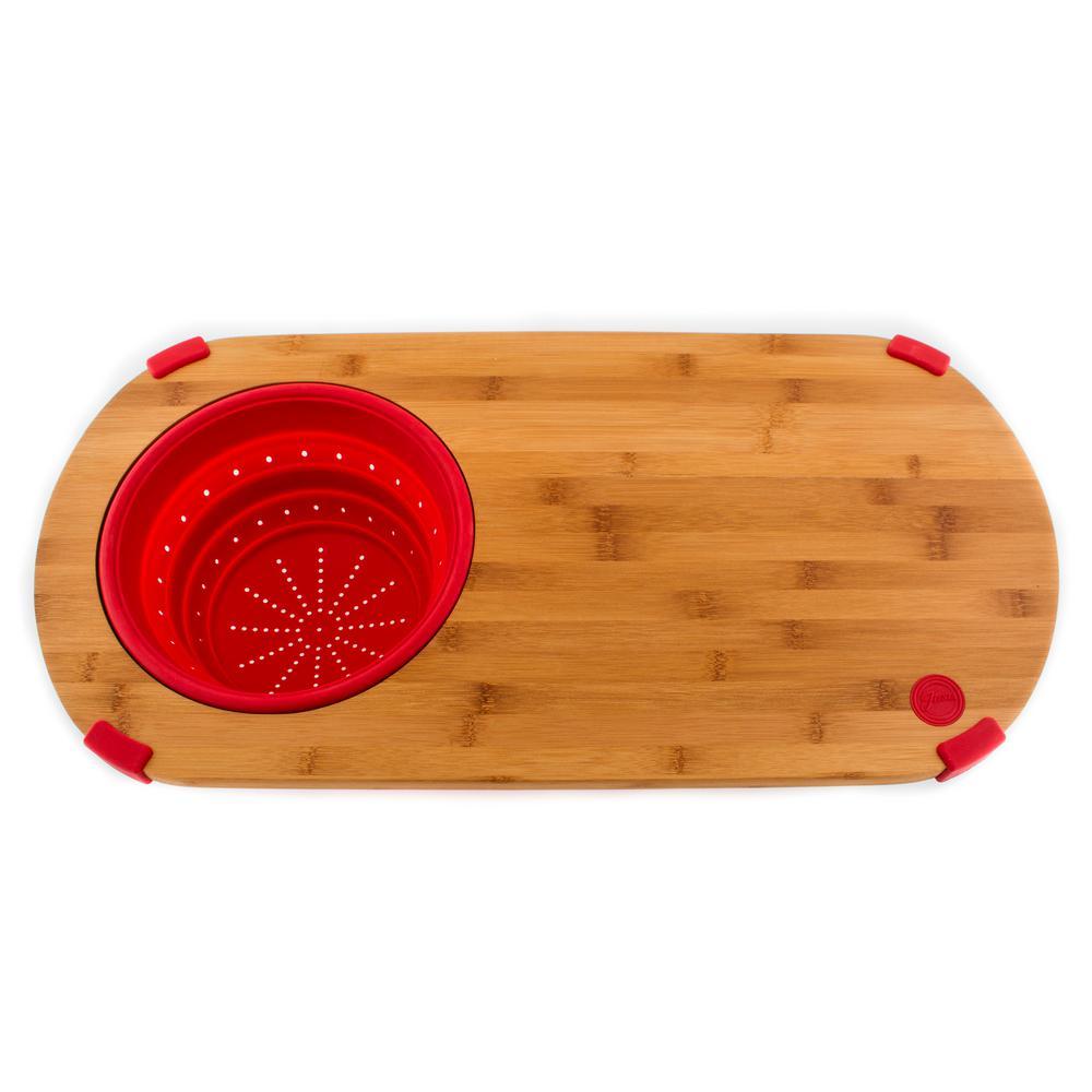 Scarlet Bamboo Colander Board