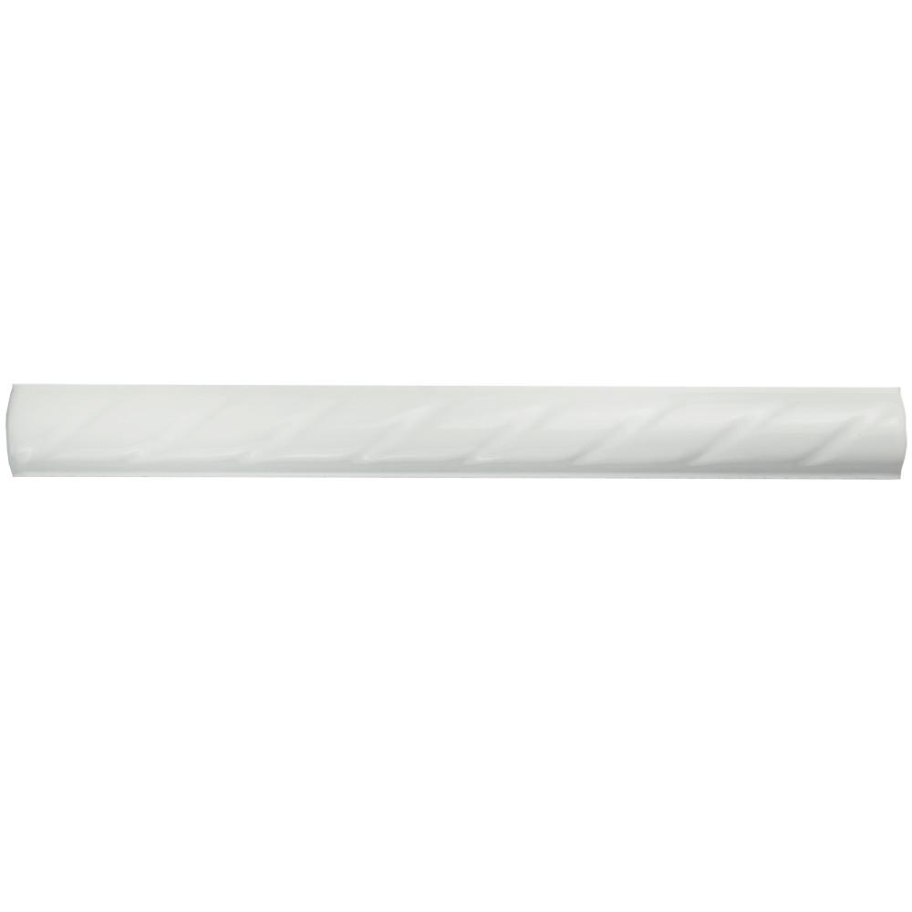 Merola Tile White Rope 1 In X 9 3 4 Ceramic