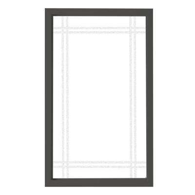 35.5 in. x 59.5 in. Prairie Decorative Glass Picture Vinyl Window - Bronze
