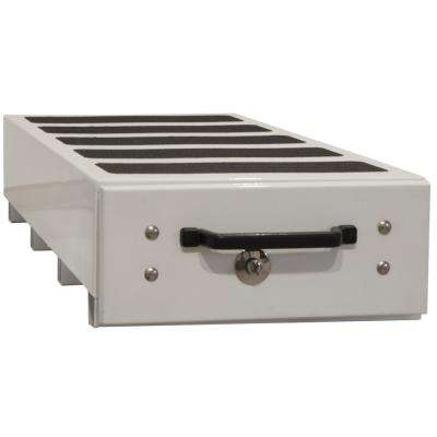 12 in. x 48 in. x 40 in. White Smooth Aluminum Slide Out Truck Bed Box