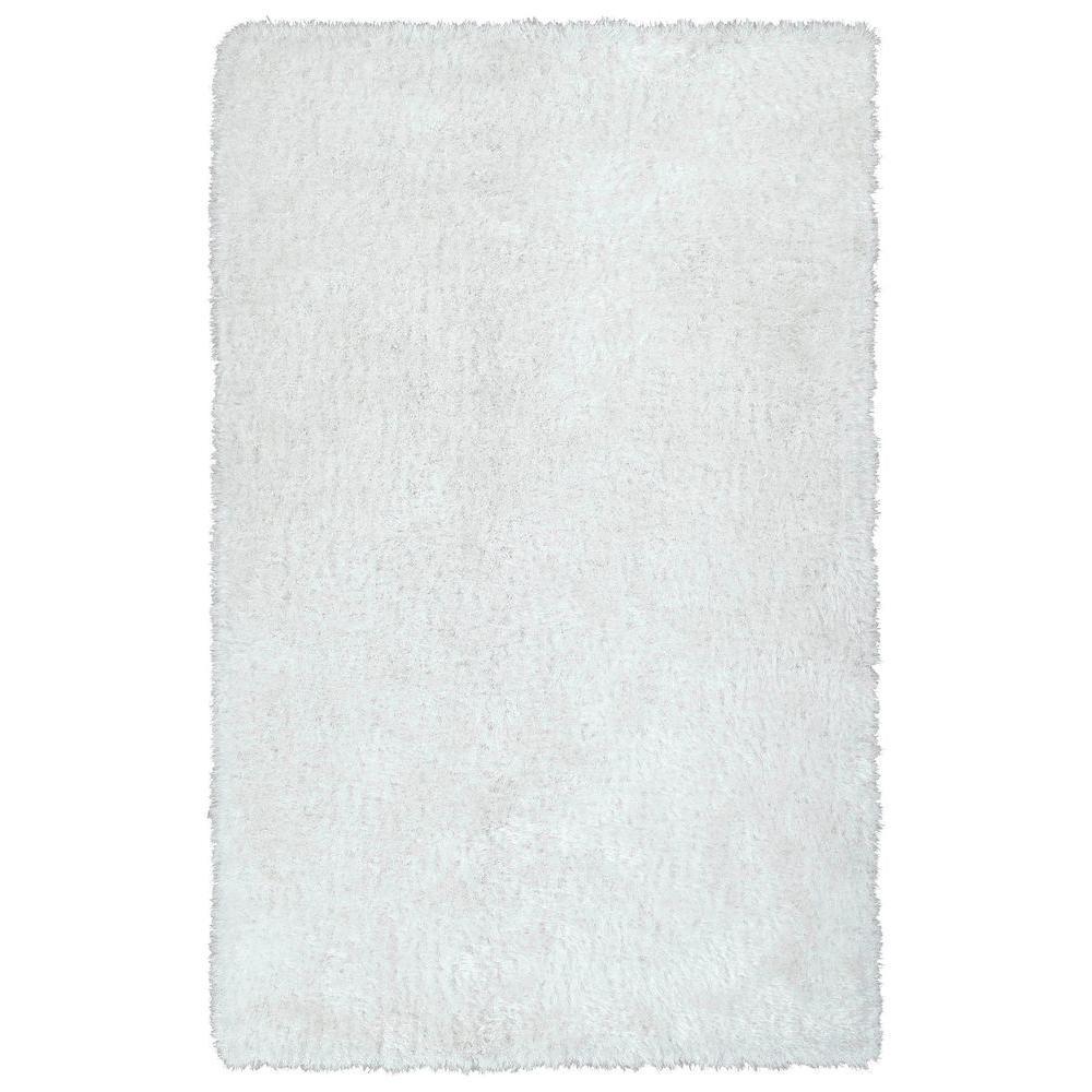 Posh White 5 ft. x 7 ft. Area Rug