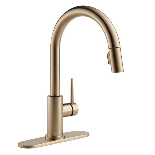 Delta Trinsic 10 1 2 In Optional 3 Hole Kitchen Faucet Escutcheon In Champagne Bronze Rp64070cz The Home Depot