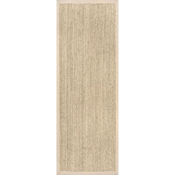Nuloom Larnaca Seagrass Herringbone Natural 2 Ft 6 In X 6 Ft Indoor Outdoor Runner Rug Hjsg02a 2606 The Home Depot