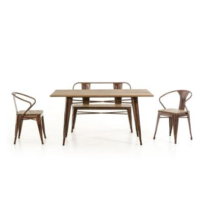Valerie 30 in. Bronze Wood End Table