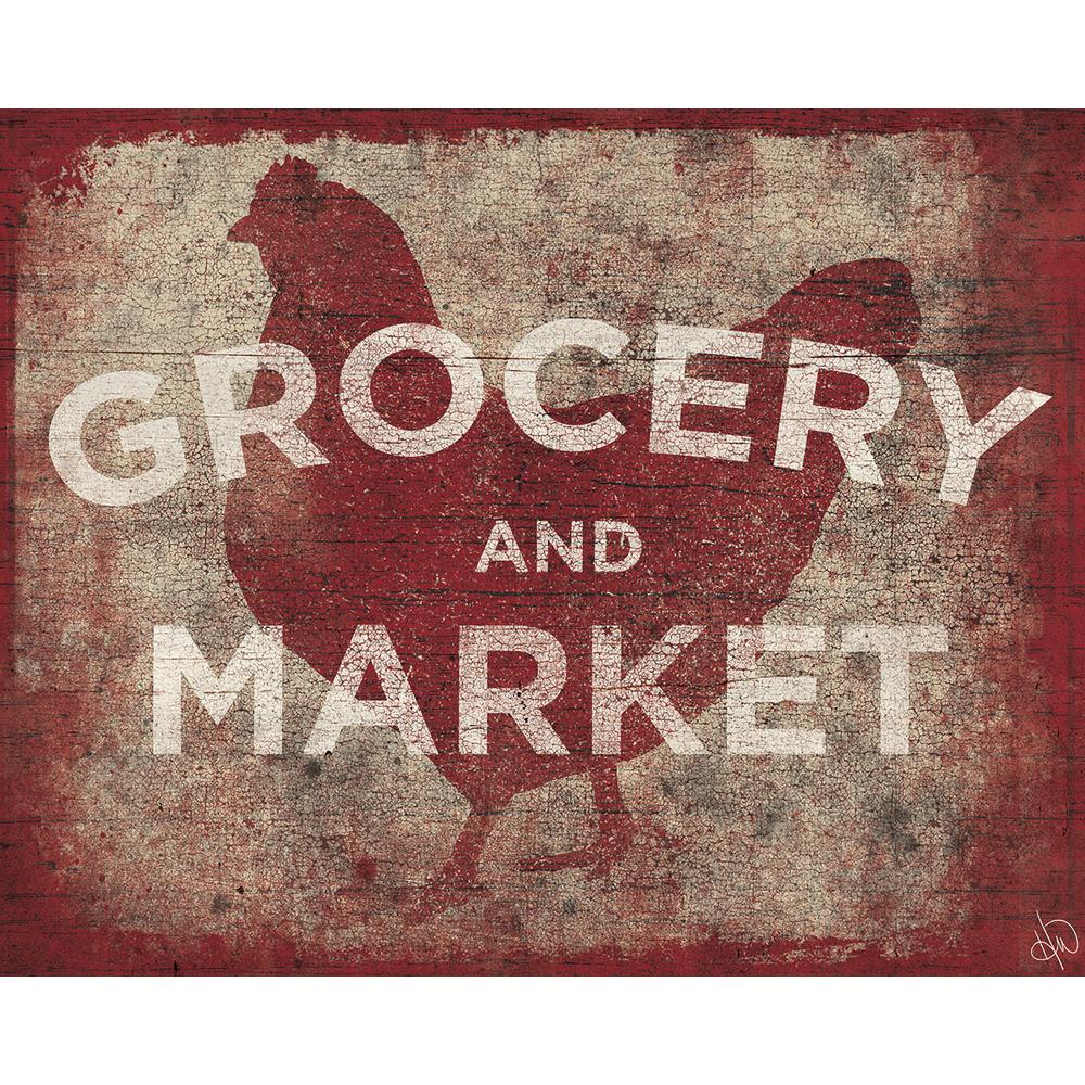 "16 in. x 20 in. ""Chicken Country Grocery and Market Sign"""