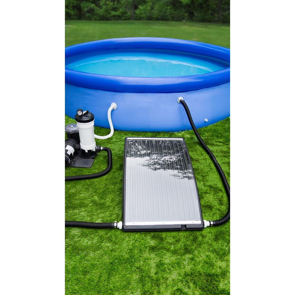 Poolmaster slim line above ground pool solar heater 59026 the home depot for Solar heaters for swimming pools